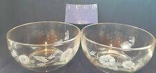 Vintage Avon - Hummingbird 24% Crystal Dessert Bowls - Set Of 2, With Card, Box