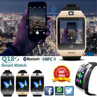 Q18S NFC Smart Bluetooth Watch GSM Camera TF Card Wristwatch For Samsung Iphone