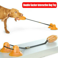 Suction Cup Tooth Cleaning Floor Tug Rope Dog Bite Toy Pet Molar Chewing Ball