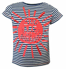Chicas Azul Rayas Camiseta ' Usted Son Mi Sunshine' Ex-Store 3Meses-5Años