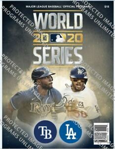 2020 OFFICIAL MLB WORLD SERIES PROGRAM LOS ANGELES DODGERS VS. TAMPA BAY RAYS