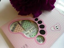 Nail Art Self Adhesive Full Toe Nails Polish Wrap Sticker Lace Dots Spots 1003T