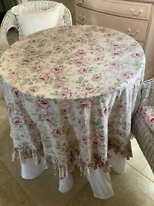 "Rachel Ashwell Shabby Chic Floral Tablecloth, 70"" Round"