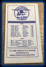 1975 WASHINGTON DIPLOMATS BRADLEY FOOD SOCCER POCKET SCHEDULE FREE SHIPPING