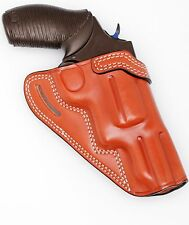 "Leather CROSS DRAW Holster - S&W K or L  Frame Revolver 4"" Barrel (# 7710 BRN)"