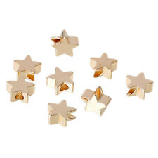 20 14K GOLD PLATED STAR SPACER BEADS~5mm~Wine Glass Charms~Wish Bracelet (21C)UK