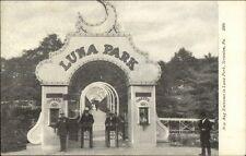 Scranton PA Luna Park Entrance Ticket Booths c1910 Postcard