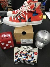 Converse x Damien Hirst All Star  EU 44 US 10.5 Butterfly Limited Edition Red