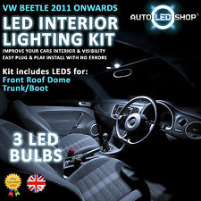 VW Beetle A5 2012 in poi BIANCO LED luce interno Set Lampadine Xenon SMD