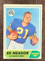 1968 Topps Football Ed Meador #106 NM-MT Los Angeles Rams
