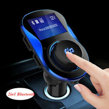 Car Dual USB MP3 Player AUX Fast Charger & Bluetooth Wireless FM Transmitter