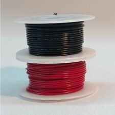 26 AWG UL1007 UL1569 Hook-up Wire BLACK and RED one 50 foot spool of each NEW!