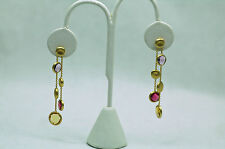 $2.5K Marco Bicego NWT Jaipur 18K and Multi- Stone Double Drop Earrings