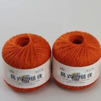 AIP Thread No.8 Cotton Crochet Yarn Craft Tatting Hand Knit Embroidery 50gX2 #23