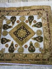 Antique Mid-19th C. Ottoman Islamic Embroidered Tablecloth c. 1870s Back Cloth i