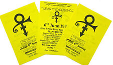 PRINCE 3 x PROMO Flyers 1999 Party Manchester England mint POST FREE *