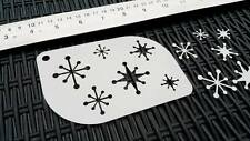 Xmas Christmas Snowflakes Airbrush Stencil Card Window Face Body Cake Decoration