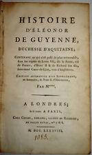 HISTOIRE D'ÉLÉONOR de GUYENNE, DUCHESSE D'AQUITAINE, Isaac de LARREY, 1788