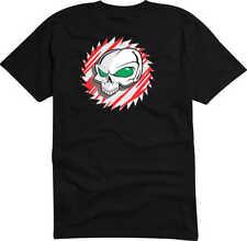 T-Shirt D808 Funshirt - Tribal Comic- Schädel Totenkopf blutigem Sägeblatt Party