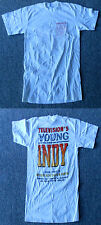 White YOUNG INDY Indiana Jones tv show Antique Auto Sales T-Shirt, size S