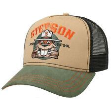 Stetson Baseball Forest Patrol Beaver Trucker Cap Adjustable Snapback Black
