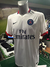 MAGLIA CALCIO SHIRT FOOTBALL PSG 2015/2016 NIKE AWAY STADIUM JERSEY PARIS WHITE