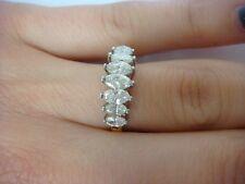 STRIKING 0.75 CT T.W. MARQUISE DIAMONDS WEDDING-ANNIVERSARY RING 14K YELLOW GOLD