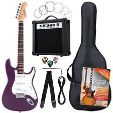 Pack Guitare Electrique Strat Single Coil Set 25W Amplificateur Housse Violete