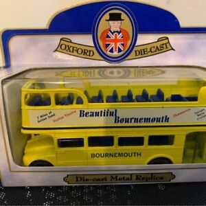 Limited Edition Oxford Diecast  Open Top Bournemouth Sightseeing Tour Bus.