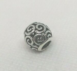 Authentic PANDORA Sterling Silver Openwork Charm OCEAN BREEZE #790896