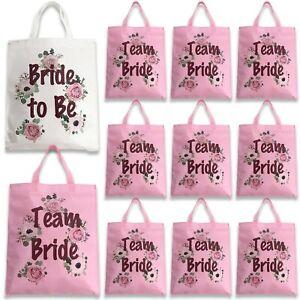 13 PACK TEAM BRIDE FLORAL ROSE GOLD HEN NIGHT PARTY TOTE SHOULDER BAG KEEPSAKE