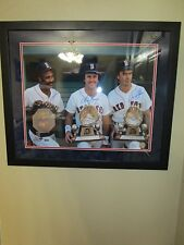 Red Sox Signed/Framed 16 x 20 Jim Rice, Fred Lynn & Dwight Evans MLB Auth