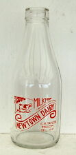 milk bottle : lovely rare 1950's Millom Cumbria : dairy quart