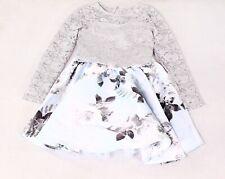Speechless Girl's Dress Gray Blue Size 10 2-Piece Floral Glitter Lace $62 851