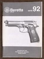 Armi - Istruzioni uso Pistola Beretta serie 92 - ed. 1992