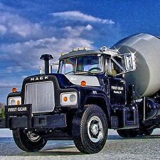 SUPER SALE - LAST BEAUTIFUL 1966 Mack R600 CEMENT MIXER -  First Gear