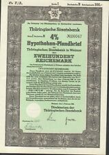 Thüringische Staatsbank Hypotheken - Pfandbrief 200 RM aus 1941