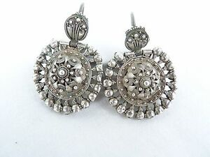 Byzantine  silver earrings Circa 13-14th century AD.