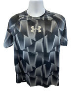 Under Armour Men's Black/Gray Short Sleeve Breathable Fitted Tech T Sz L