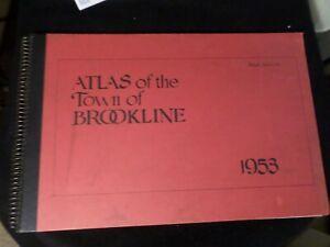 Atlas of the Town of Brookline: 1953. Brookline Engineering Department