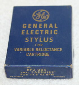 GE General Electric Stylus for Variable Reluctance Cartridge RPJ-005