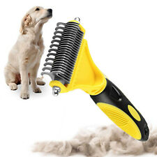 Pet Dematting Comb 2 Sided Professional Grooming Rake Brush Tool For Cats & Dogs