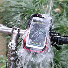 WHEEL UP Bike Cell Phone Bag Rainproof TPU Touch Screen Holder MTB Frame Pouch