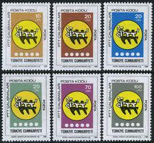 Turkey 2321-2326, MI 2720-2725, MNH. Postal Code Inauguration, 1985
