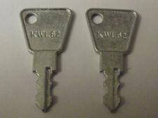 2 Fab & Fix upvc double glazed window key - KWL62 replacement window handle key