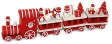 Santas Holiday Express Wooden Christmas Train Ornamental Decoration