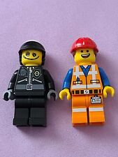 Lego Scribble face cop Emmet hard hat minifigure Lego Movie collectible series