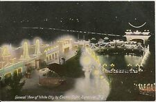 View of White City by Electric Light Syracuse NY Postcard Amusement Park