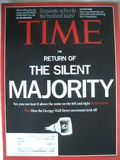 TIME MAGASINE OCTOBER 24 2011  RETURN OF THE SILENT MAJORITY ..KEPT LIKE  NEW!