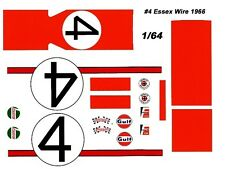 #4 Gregory/Whitmore 1966 Ford GT40 1/64th HO Scale Slot Car Waterslide Decals